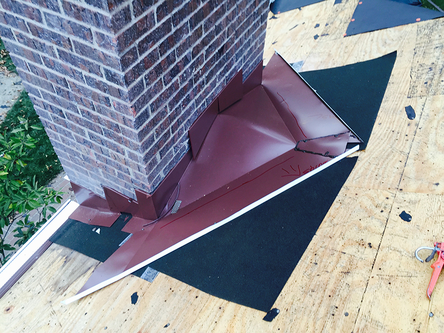 Roofing Cricket Amp Cricket Framing Half Done