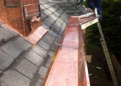 Odessa Roofing Copper Box Gutter