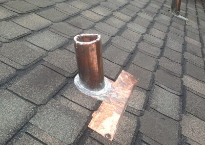 Odessa Roofing Copper Pipe Flashing