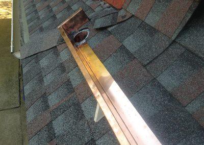 Odessa Roofing Copper Yankee Gutter